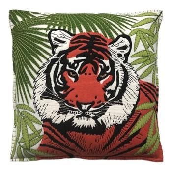 Tiger Cushion, 46 x 46cm, cream