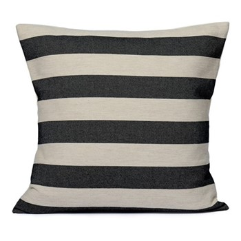 Fastnet Stripe Cushion, 60cm, black