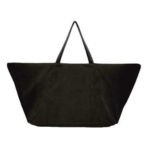Canvas Big long bag, 50 x 35 x 100cm, Black
