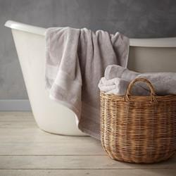 Egyptian Cotton Hand towel, 50 x 90cm, silver