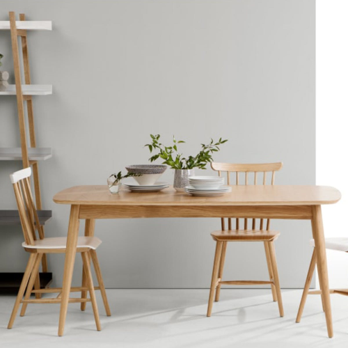Deauville Extending dining table, H74.5 x W160 x D100cm, Oak