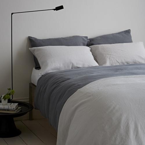 Oxford pillowcase, 50 x 75cm, Lens Charcoal
