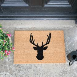 Stags Head Doormat, L60 x W40 x H1.5cm