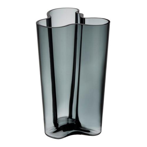 Alvar Aalto Vase, 25.1cm, dark grey