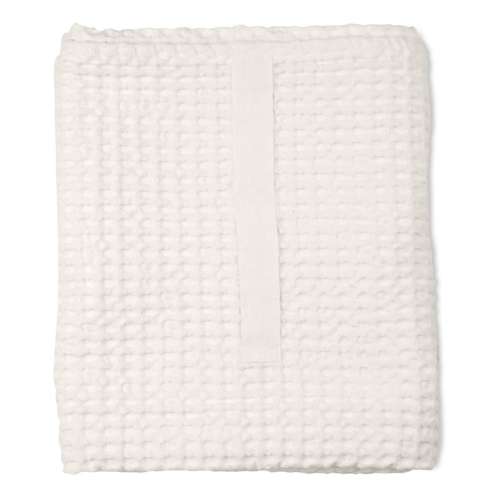 Waffle Towel and blanket, 150 x 100cm, Natural White