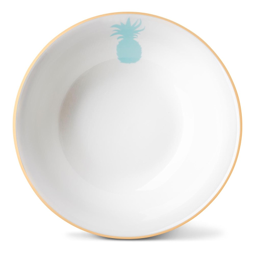 Pineapple Cereal bowl, Dia16 x H5.5cm, Gold Rim