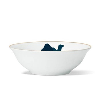 Camel Cereal bowl, D18 x H5.5cm, hand-painted gold rim