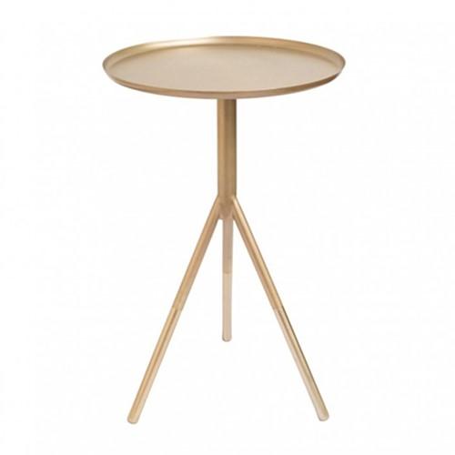 Tripod table, H58cm x Dia37cm, Matt Gold/Brass