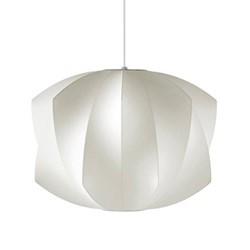 Propeller Medium pendant lamp, W52 x H38cm, white