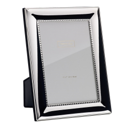 """Beaded Photograph frame, 5 x 7"""", silver plate"""