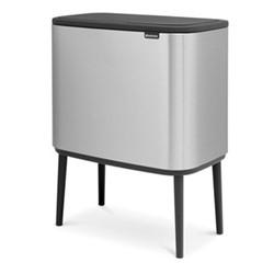 Bo Touch bin, 11 + 23 litre, matt steel fingerprint proof