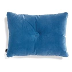 Dot Velvet cushion, W60 x H45cm, blue