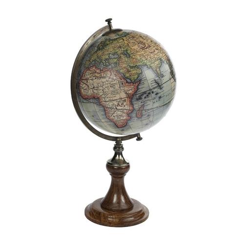 Vaugondy 1745 Globe, H61 x D34.5cm, Wood/Brass