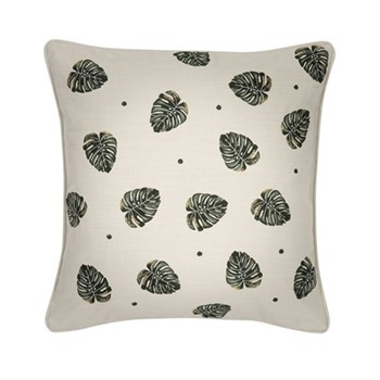 Jungle Leaf Cushion, W45 x L45cm, natural