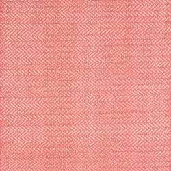 Herringbone Woven cotton rug, W76 x L244cm, Coral