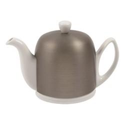 Salam Teapot, H12.5cm - 0.7 litre, white porcelain/stainless steel
