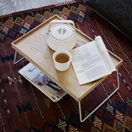 Nomad Table tray, L60 x W35 x H22cm, Silk Grey