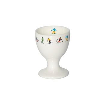 Ski Chain Egg cup, H6.5 x W5 x D5cm, multi
