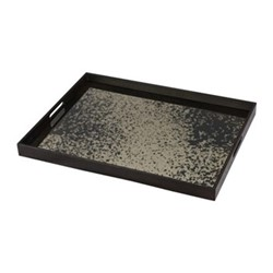 Heavy Aged Heavy aged bronze mirror tray - rectangular - large, W61 x H46 x D5cm, bronze