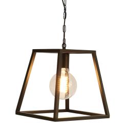 Vienna Single trapeze chandelier frame, 30 x 30 x 3cm, Black Steel