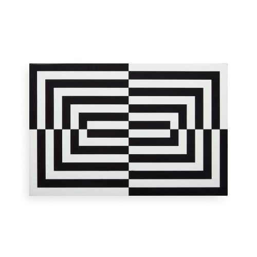 Op Art Box, large, Black/White