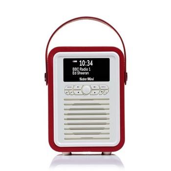 Retro Mini DAB radio, H22.4 x W14.7 x D10.5cm, red