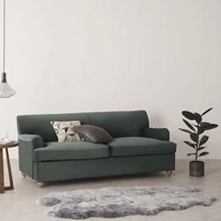 Orson 3 seater sofa bed, H80 x W188 x D96cm, green