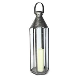 Belize Large lantern, H71 x L23 x D23cm, galvanised steel