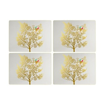 Chelsea Collection Set of 4 placemats, 40.1 x 29.8cm, light grey