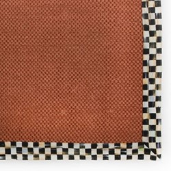 Courtly Check Rug, L91.44 x W60.96cm, black & white, red