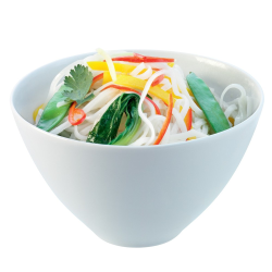Dine Set of 4  noodle bowls, 16cm, white