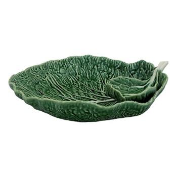 Cabbage Leaf bowl, 34 x 29 x 10cm, green