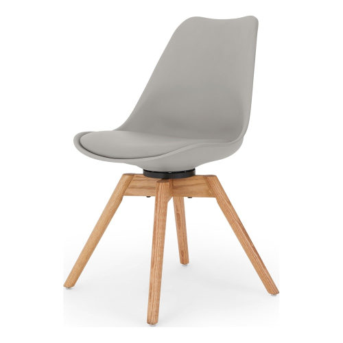 Thelma Office chair, H84 x W49 x D54cm, grey