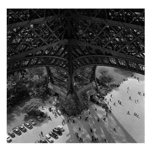 Eiffel Tower Leg Framed photograph, H61 x W61cm