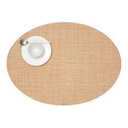Mini Basketweave Set of 4 oval placemats, 36 x 49cm, cantaloupe