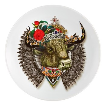Love Who You Want - QueenBull Dessert plate, 23cm, white