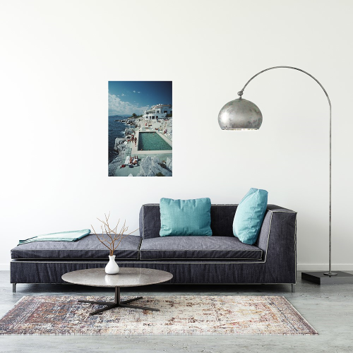 Slim Aarons - Hotel Du Cap-Eden-Roc Mounted print, H76 x W51cm, Perspex