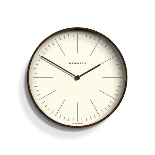 Mr Clarke Wall clock, Dia28cm, Dark Stain Finish