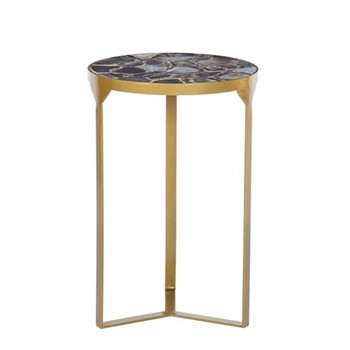 Ida Side table, H56 x D36.5cm, oyster
