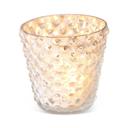 Bubble Votive - small, 6 x 6cm, gold glass