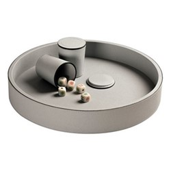 Dice Dice cup with dice, H9 x D7.5cm, grey
