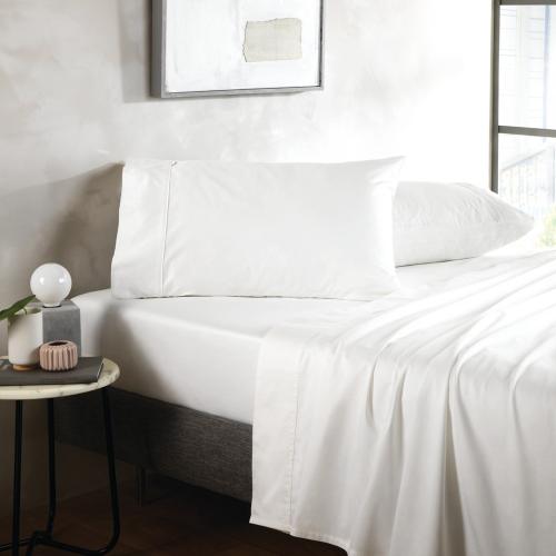 500TC Cotton Sateen Pair of oxford pillowcases, 50 x 75cm, snow