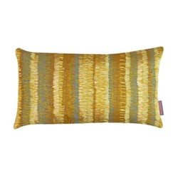 Textured Stripe Cushion, H30 x W50cm, turmeric/storm
