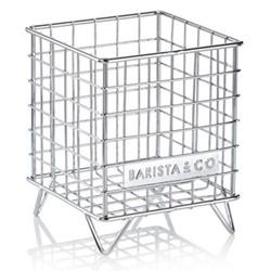 Pod Cage coffee capsule storage, 18 x 14 x 14cm, steel
