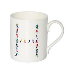 Alphabet - H Mug, H9.5 x W10.5 x D8.5cm - 35cl, multi