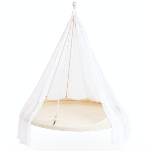 Nomad TiiPii bed, 150 x 150 x 178cm, Natural White