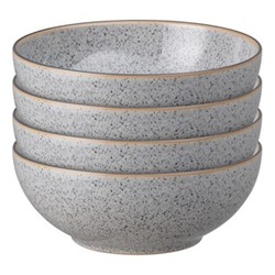 Studio Grey Set of 4 cereal bowls, 17 x 6.5cm, granite