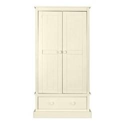 Charterhouse Wardrobe, H182 x W91 x D52cm, antique white