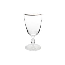 Willow Set of 4 wine glasses, 8.3 x 16.5cm, platinum rim