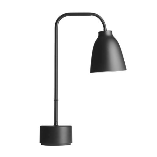 Caravaggio Read Table lamp, H50 x Dia12.4cm, Black